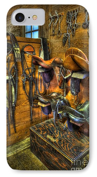 Life On The Ranch - Tack Room IPhone Case by Lee Dos Santos