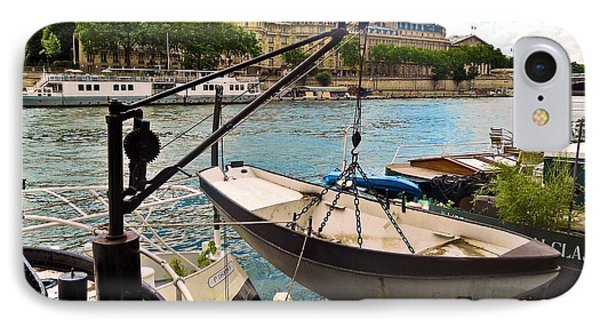 Life On The Seine Phone Case by Lauren Leigh Hunter Fine Art Photography