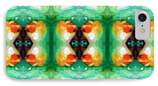 Life Patterns 1 - Abstract Art By Sharon Cummings IPhone Case