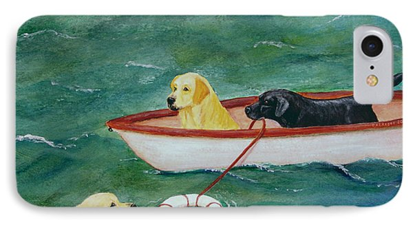 Lifeboat Labrador Dogs To The Rescue IPhone Case