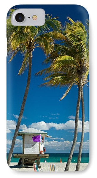 Lifeguard Cabin On Miami Beach IPhone Case by Celso Diniz