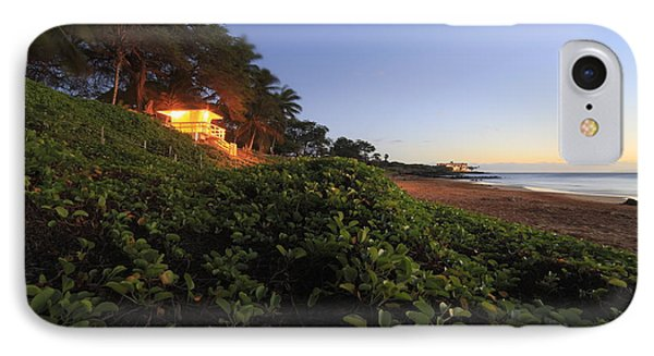 Lifeguard Shack Kamaole IIi Beach South Maui Kihei Hawaii IPhone Case by Edward Fielding