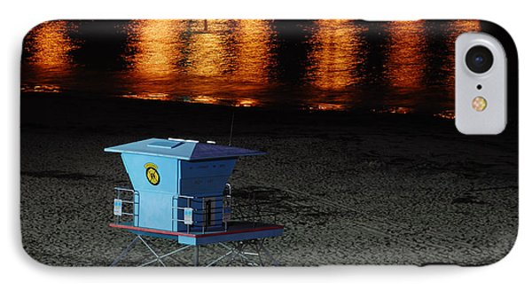 Lifeguard Station At Night IPhone Case