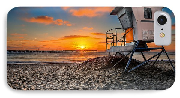 Lifeguard Sunset Phone Case by Robbie Snider