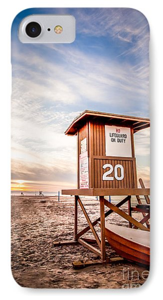 Lifeguard Tower 20 Newport Beach Ca Picture IPhone Case by Paul Velgos