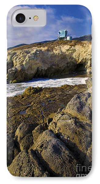 Lifeguard Tower On The Edge Of A Cliff IPhone Case