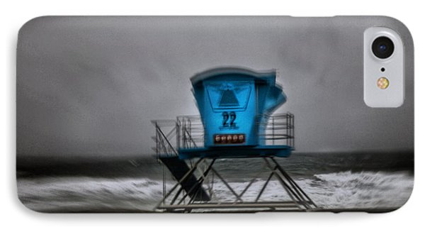 Lifeguard Tower Series - 12 IPhone Case by James David Phenicie