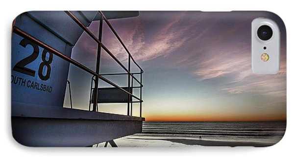 Lifeguard Tower Series - 21 IPhone Case by James David Phenicie