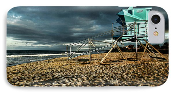 Lifeguard Tower Series - 9 IPhone Case by James David Phenicie