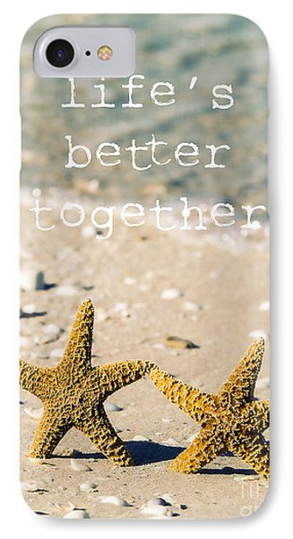 Ape iPhone 7 Case - Life's Better Together by Edward Fielding