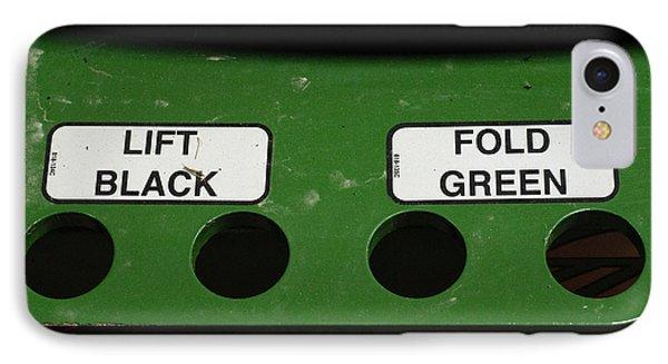 Lift Black Fold Green Phone Case by Christi Kraft