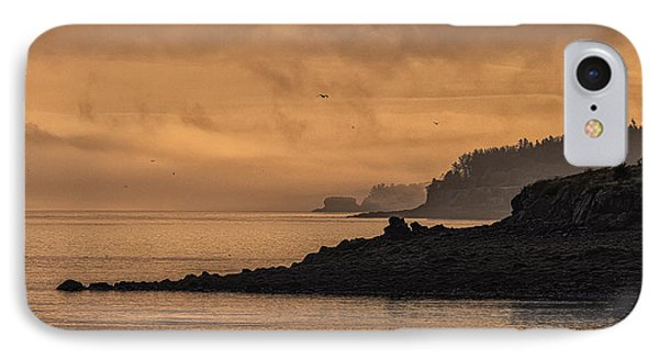 IPhone Case featuring the photograph Lifting Fog At Sunrise On Campobello Coastline by Marty Saccone
