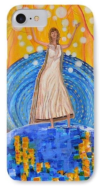 IPhone Case featuring the painting Lifting The Veil by Cassie Sears