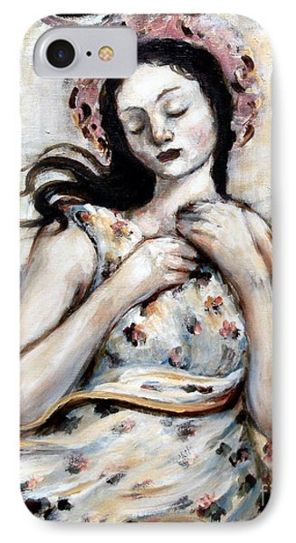 Light And Flower Angel Phone Case by Carrie Joy Byrnes