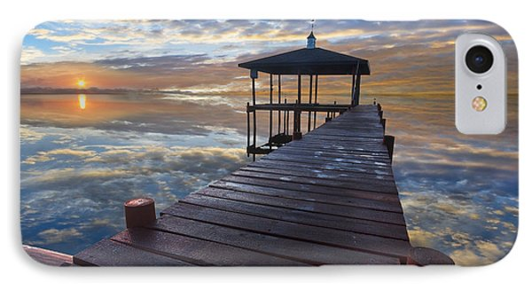 Light At The Lake Phone Case by Debra and Dave Vanderlaan