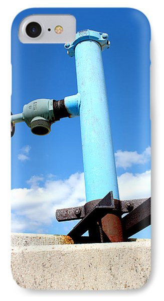 Light Blue Pipe Industrial Decay Series No 005 IPhone Case
