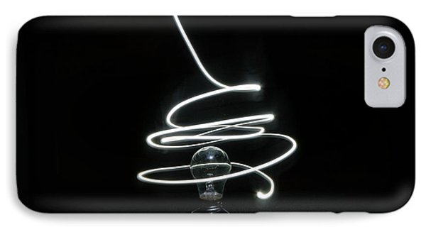 Light Bulb Light Painting IPhone Case