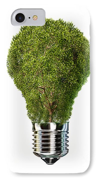 Light Bulb With Tree Inside Glass IPhone Case by Leonello Calvetti