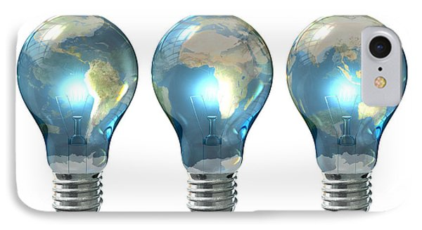 Light Bulb World Globe Series IPhone Case