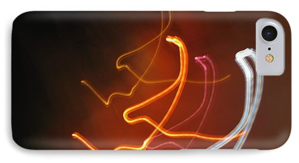 IPhone Case featuring the photograph Light Drawing. I..i..i... Dancing Lights Series by Ausra Huntington nee Paulauskaite