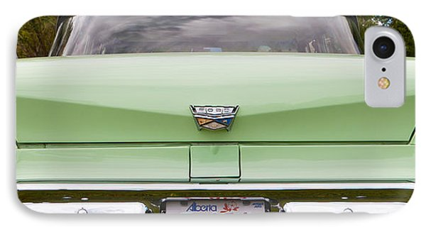 Light Green Classic Car IPhone Case by Mick Flynn