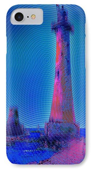 Light House At Sunset 1 IPhone Case by Tony Rubino