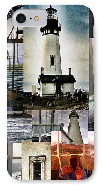Light House Collage Phone Case by Susan Garren