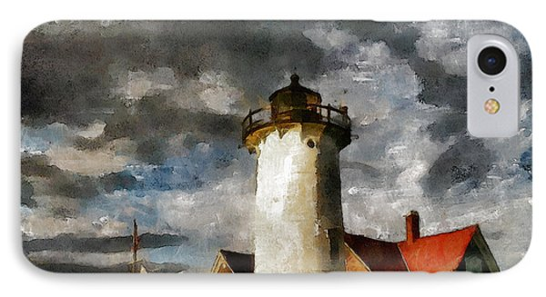Light House In A Storm IPhone Case by Georgiana Romanovna