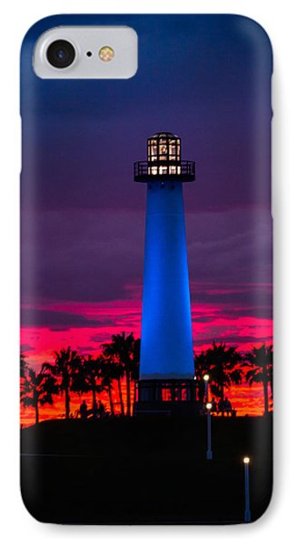 Light House In The Firey Sky Phone Case by Denise Dube
