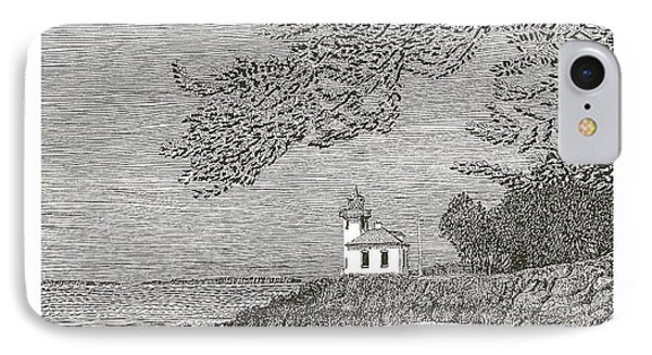 Light House On San Juan Island Lime Point Lighthouse Phone Case by Jack Pumphrey