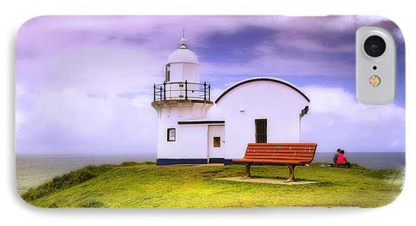 IPhone Case featuring the photograph Light House On The Hill 01 by Kevin Chippindall