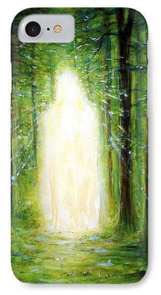 IPhone Case featuring the painting Light In The Garden by Heather Calderon