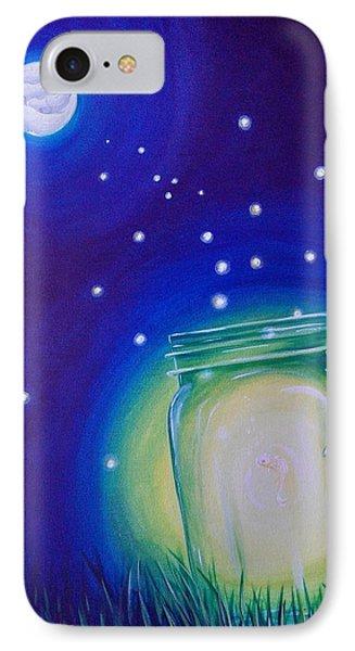 Light Of The Koi Moon IPhone Case by Deda Happel