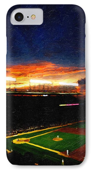 Lights Of Wrigley Field IPhone Case