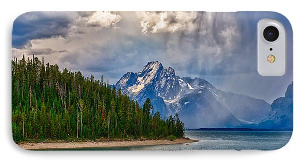 Light On Moran IPhone Case by Greg Norrell