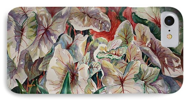 Light Play Caladiums IPhone Case by Roxanne Tobaison