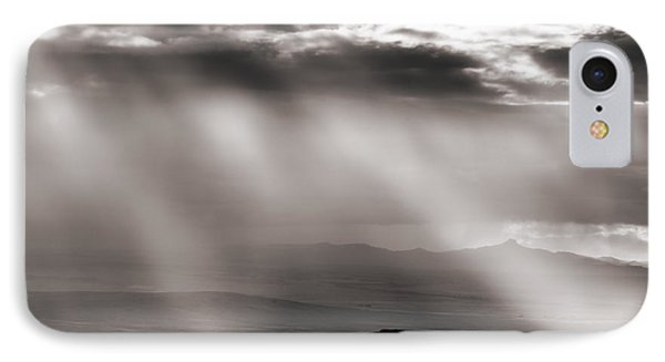 Light Rays And Rain IPhone Case by Leland D Howard