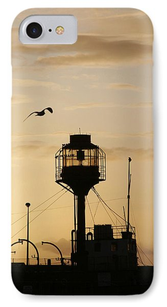 Light Ship Silhouette At Sunset IPhone Case