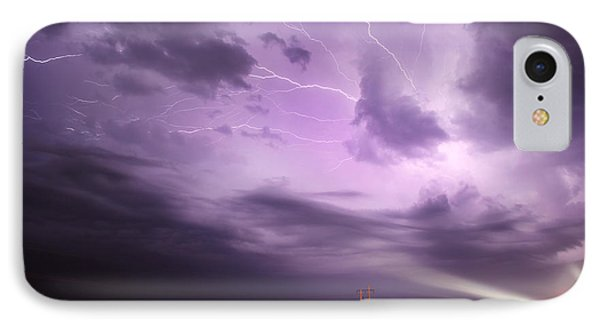 Light Show Over Yorkton IPhone Case