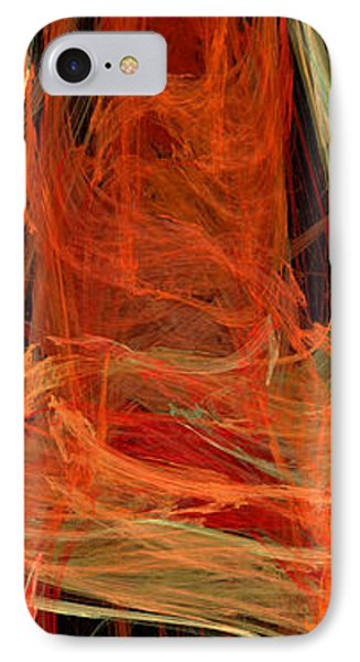 Light The Torch A Flickering Flame - Panorama  - Abstract - Fractal Art Phone Case by Andee Design