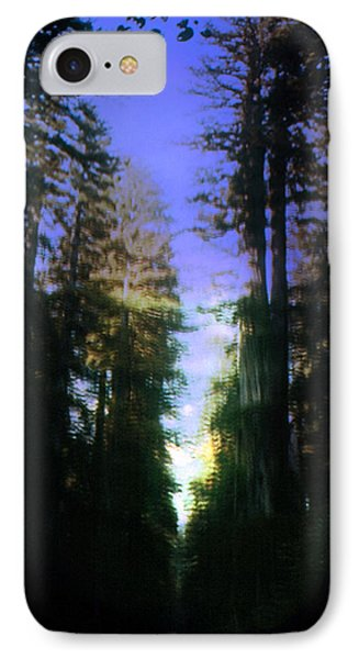 IPhone Case featuring the digital art Light Through The Forest by Cathy Anderson