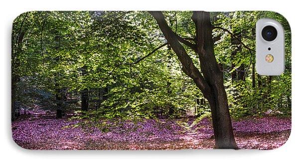 Light Tree In Hoge Veluwe National Park. Netherlands Phone Case by Jenny Rainbow
