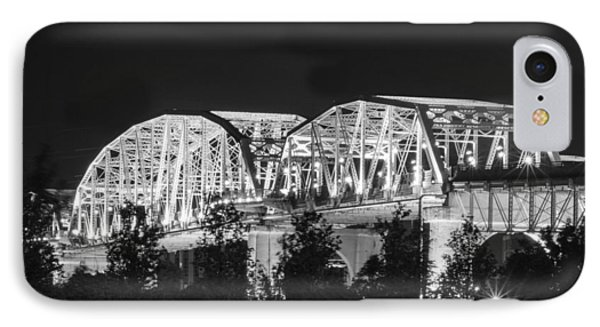 IPhone Case featuring the photograph Lighted Pedestrian Bridge  by Robert Hebert