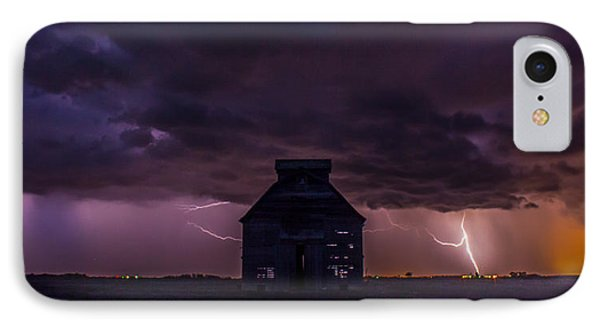 IPhone Case featuring the photograph Lightening Against The Barn by Dawn Romine