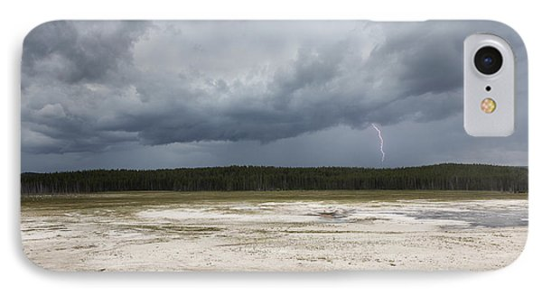 IPhone Case featuring the photograph Lightening At Yellowstone by Belinda Greb