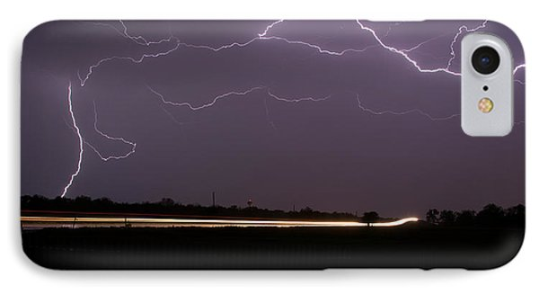 IPhone Case featuring the photograph Lightening Bolts by Charles Beeler