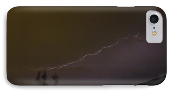 IPhone Case featuring the photograph Lightening Over The Salton Sea by Carolina Liechtenstein