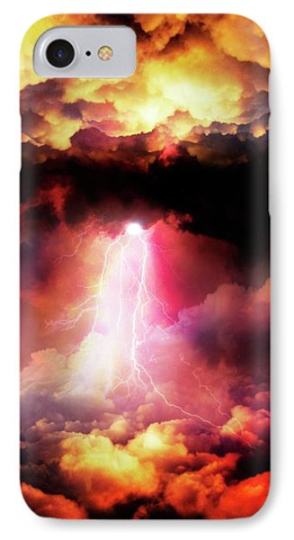 Lightening Striking IPhone Case by Victor Habbick Visions