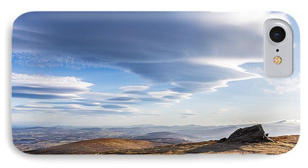 Lightfall On Djouce Mountain Summit IPhone Case by Semmick Photo