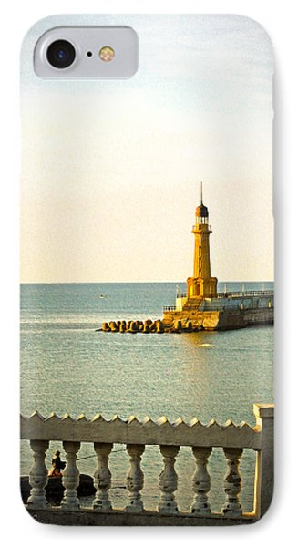 Lighthouse - Alexandria Egypt IPhone Case by Mary Machare